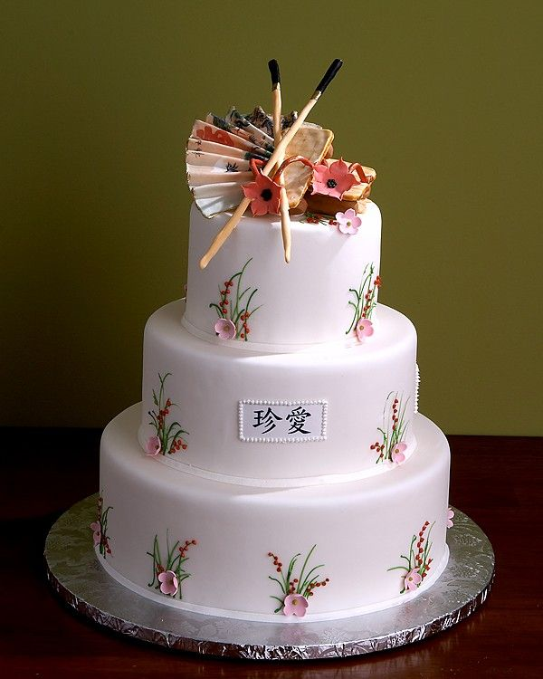 Wedding Decoration Japan: Japan Wedding Cake Centerpiece Www.tablescapesbydesign.com