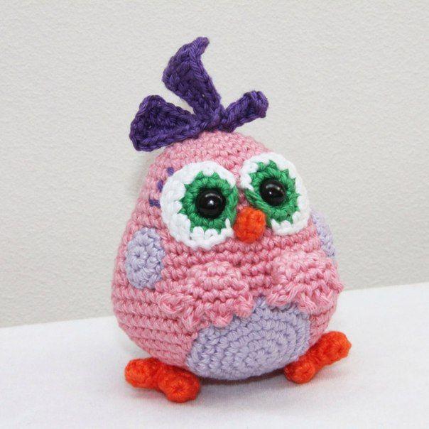 Вязание игрушек angry birds крючком | crochet it up | Pinterest ...