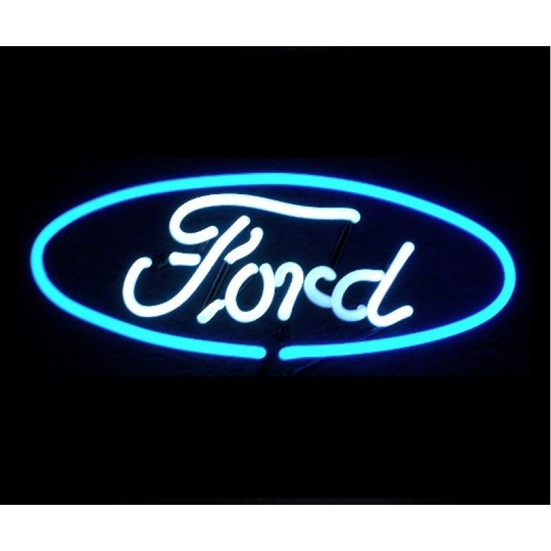 Ford Company Logo Neon Sign 12 Inch Width Neon Signs Ford