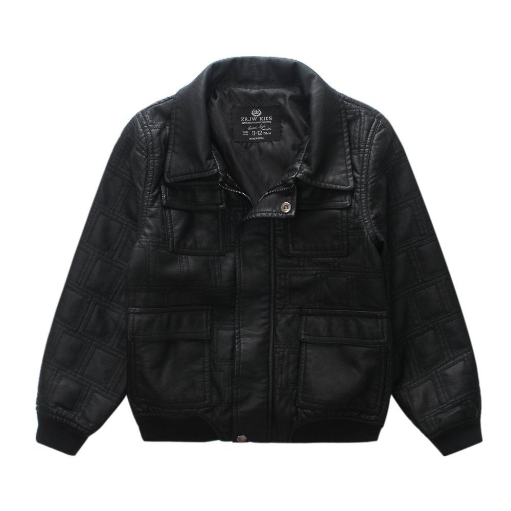 LJYH BoysVintage Faux Leather Jacket