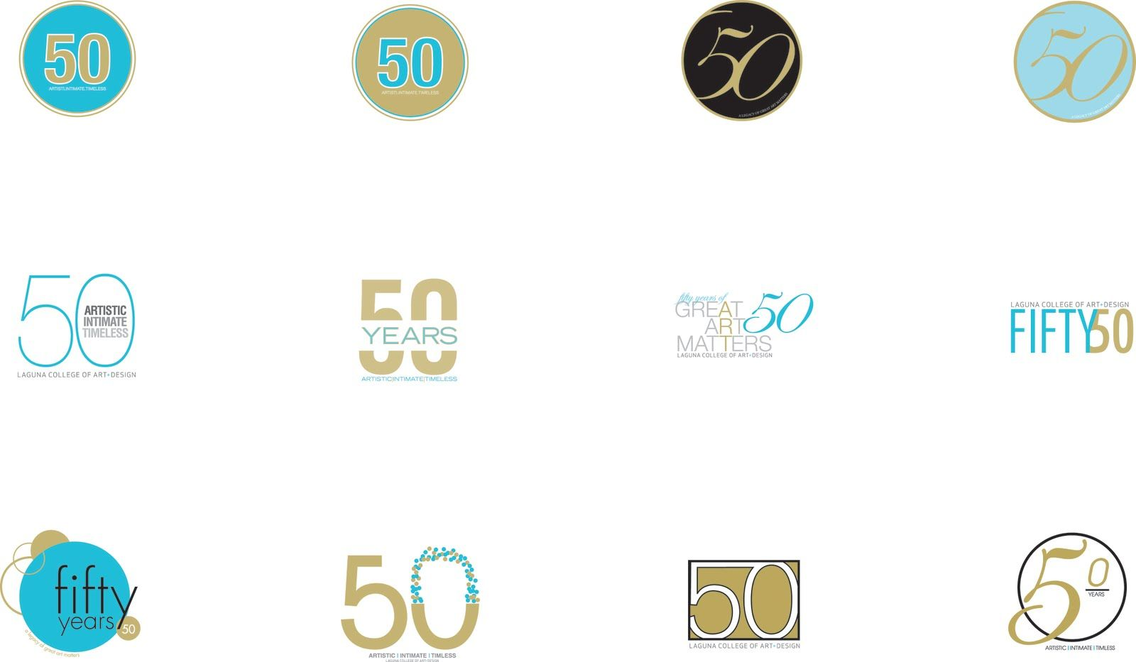 This was a project for my school's 50th anniversary for a logo that would last for the year and also here is some collateral I came up wi...