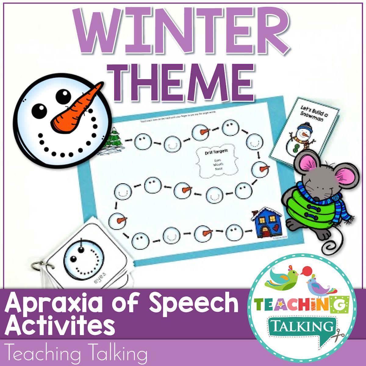 Winter Apraxia Of Speech Activities