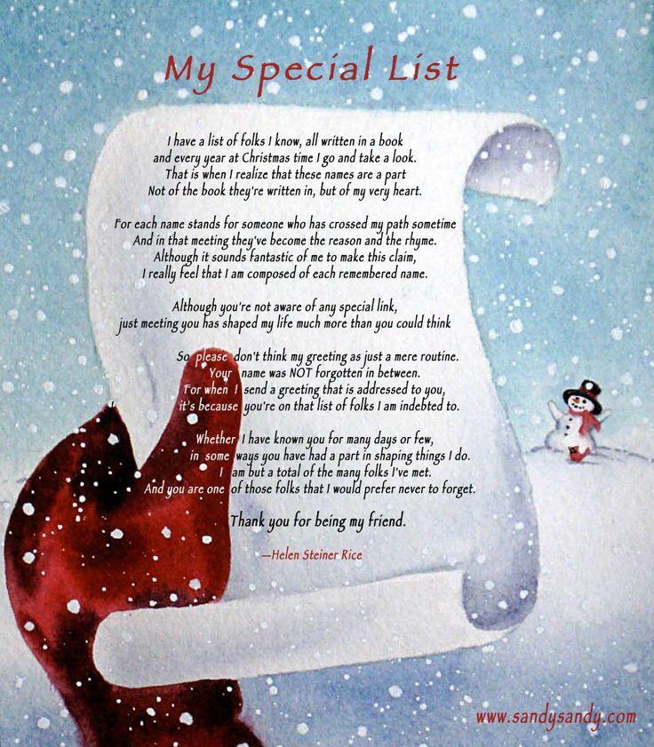 Christmas Wishes Friend Helen Steiner Rice