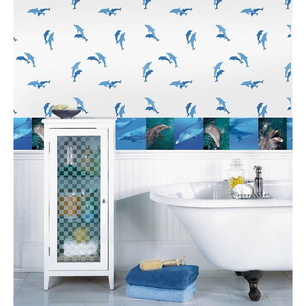 National Geographic Dolphins Wallpaper Border NGB94612
