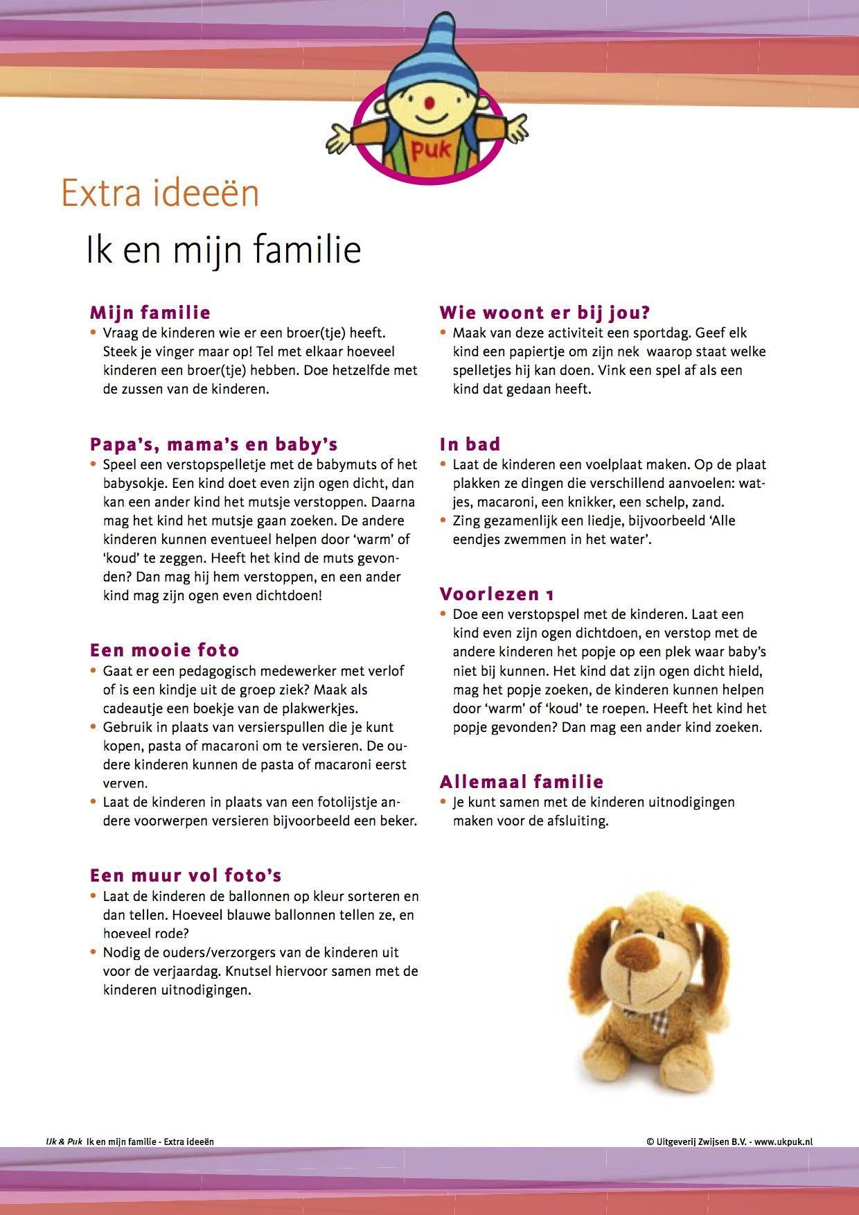 Bedwelming Extra activiteiten Ik en mijn familie | Nt2 - Family theme @UF91