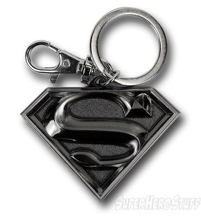 DC Superman Logo Coloured Pewter Keyring Official Merchandise