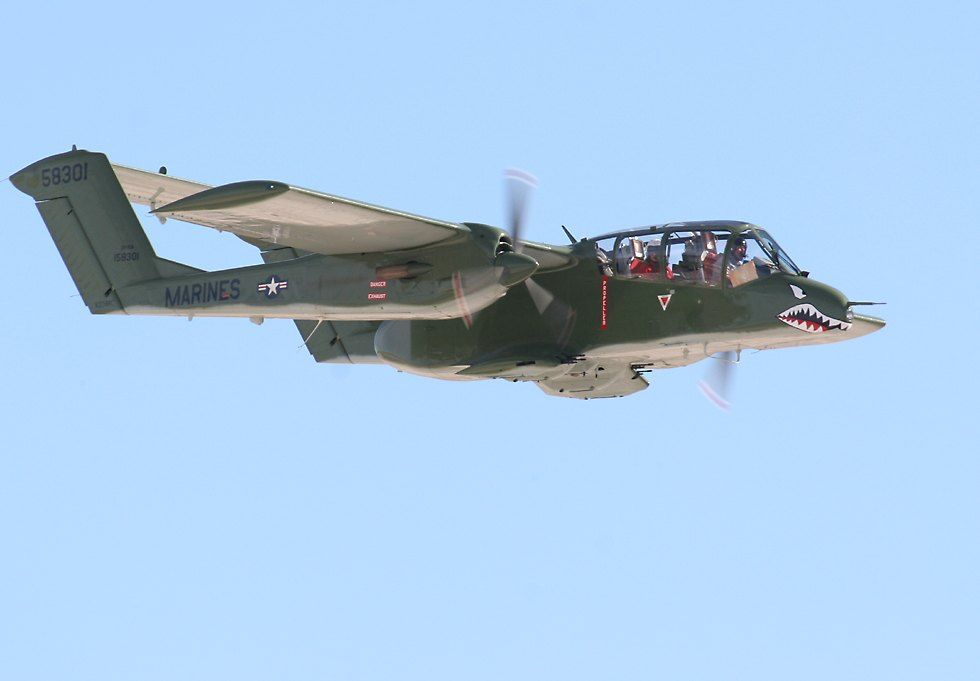 The North American Rockwell OV-10 Bronco is a turboprop light attack and observation aircraft. It was developed in the 1960s as a special aircraft for counter-insurgency (COIN) combat, and one of its primary missions was as a forward air control (FAC) aircraft. It can carry up to three tons of external munitions, and loiter for three or more hours
