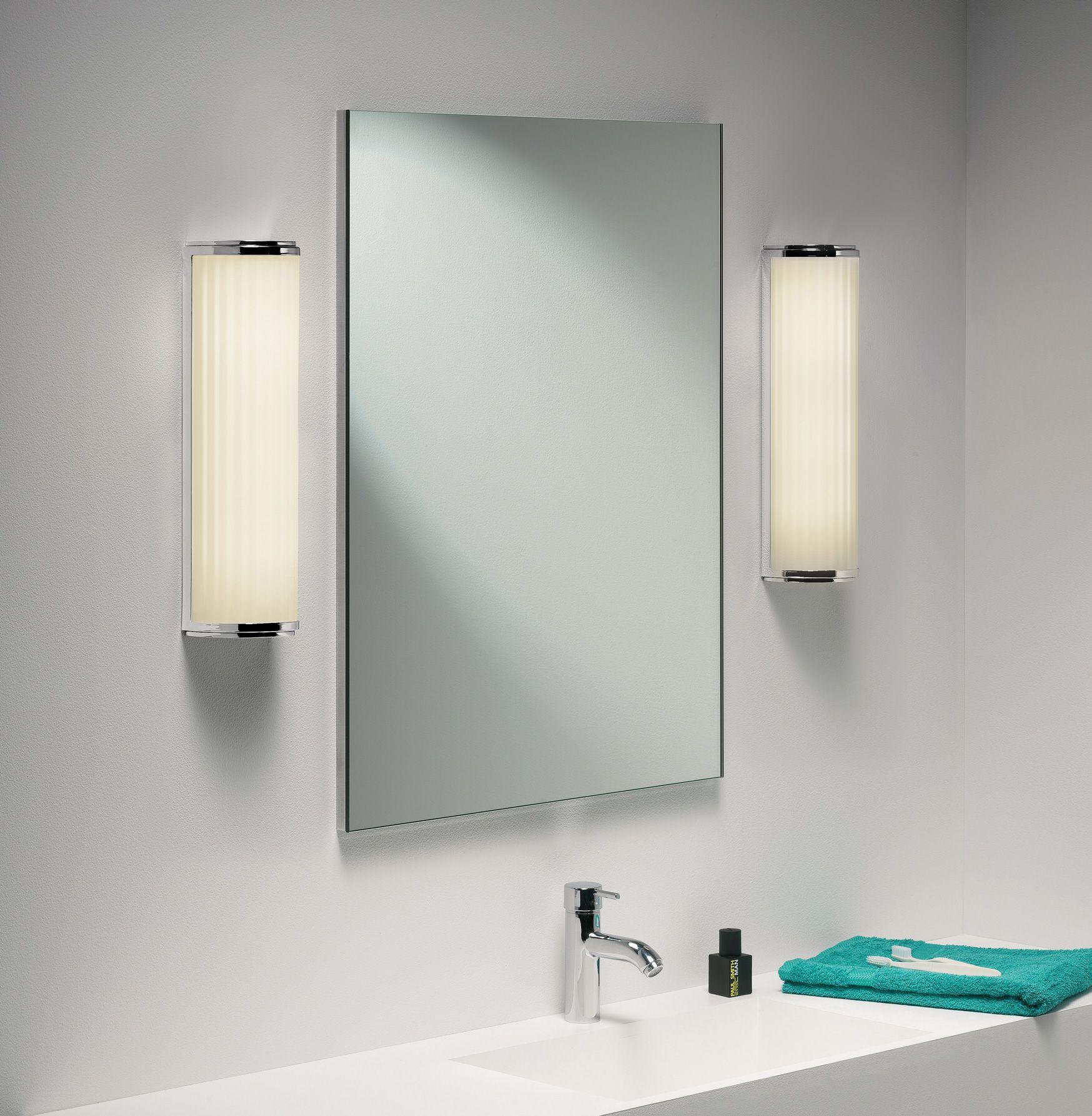 Monza Plus Bathroom Polished Chrome Wall Light Polished