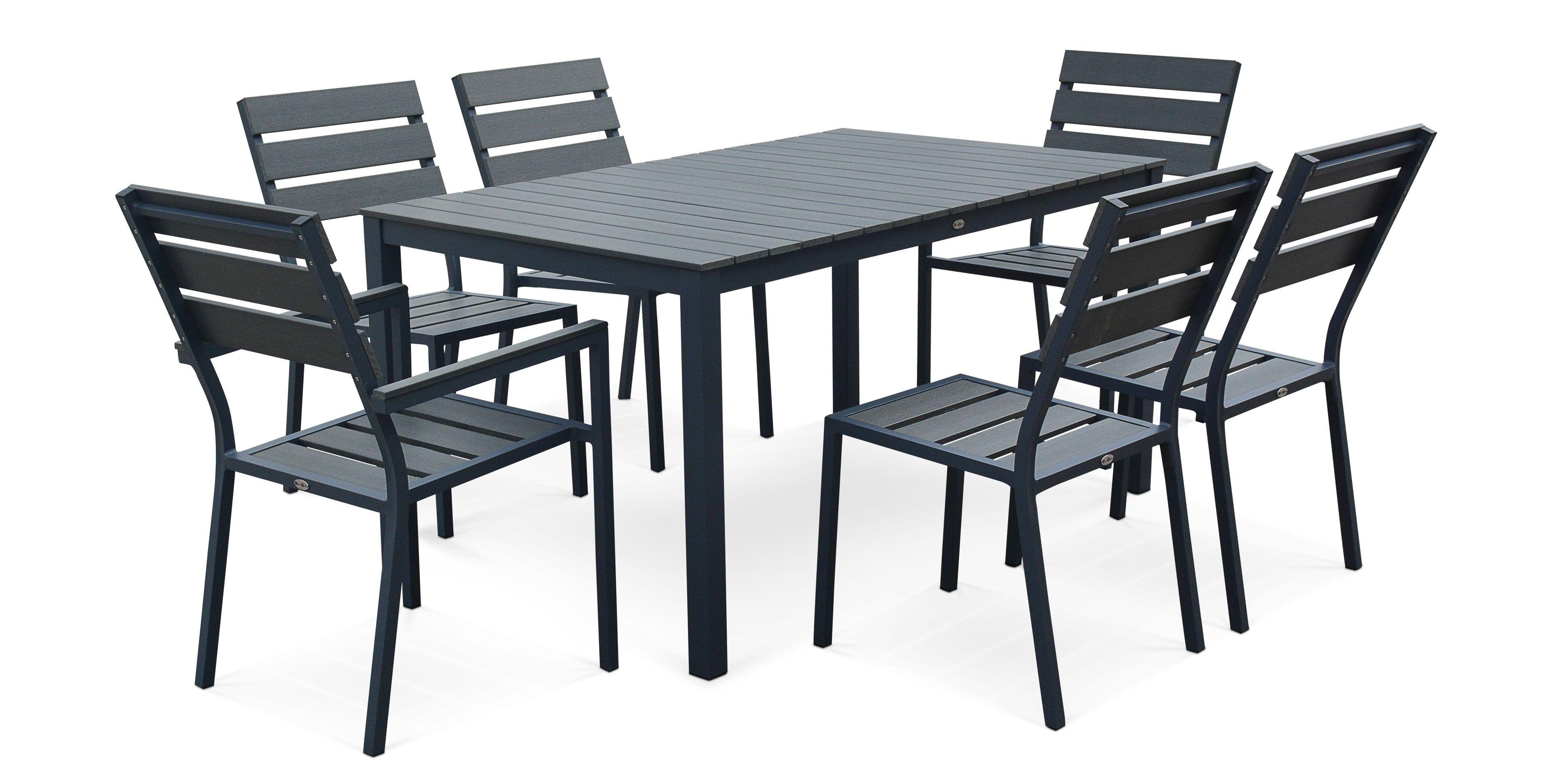 table de jardin en fonte d aluminium | Table salon de jardin