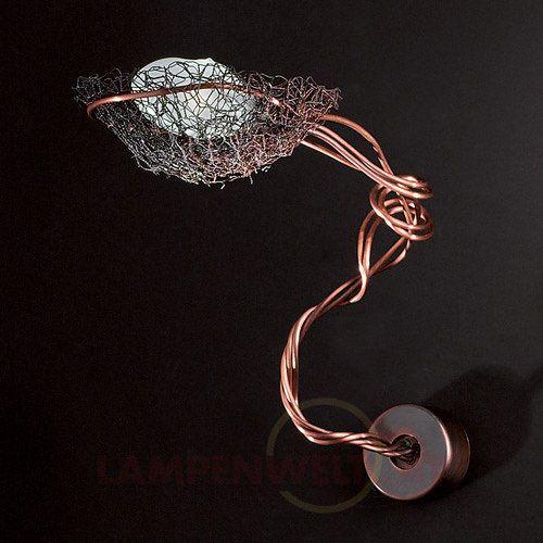 Außergewöhnliche #Wandleuchte Nido in angesagtem #Kupfer -Finish - ein #Vogelnest der ganz besonderen Art!