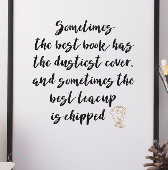 Beauty The Beast Quote Chip And Mrs Potts Quote Print Disney