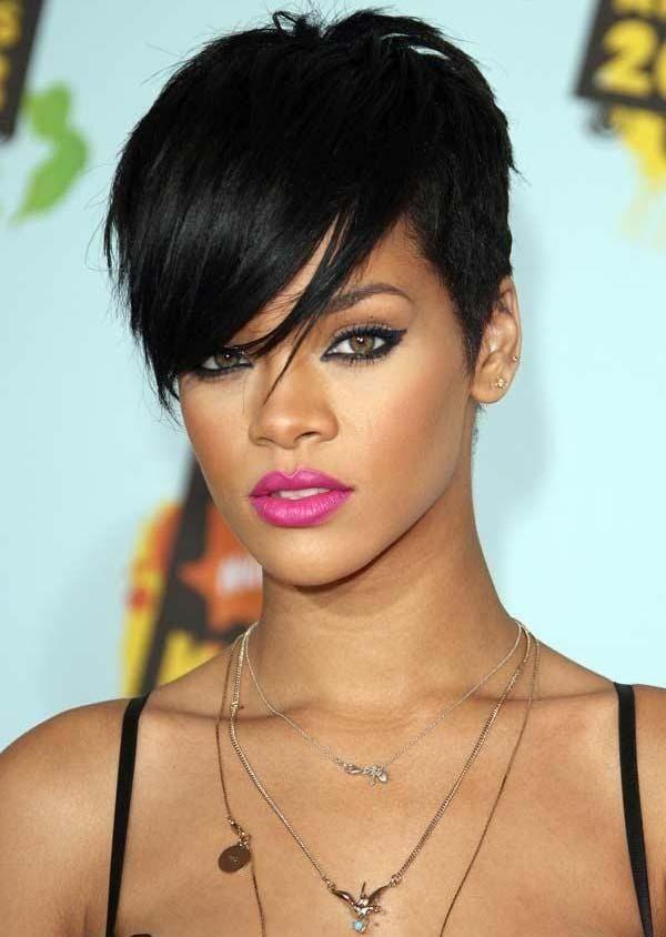 Pix For Gt Rihanna Umbrella Hair Rihanna Short Hair Rihanna Hairstyles Thick Hair Styles