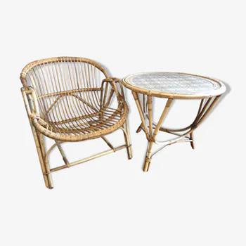 Mobilier De Jardin Vintage D Occasion Page 4 Selency En 2020 Chaise Rotin Table Et Chaises Chaise