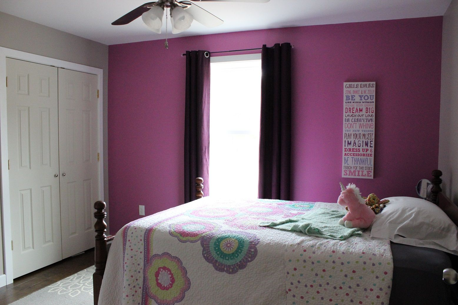 Mauve Bedroom Our Daughters Bedroom Really Pops With The Bold Pinkish Purple