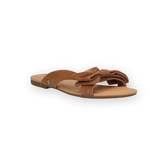 Ugg Chaussures Fonda Sandales Marron en Daim Femme Chestn... https ... 24246707dacb