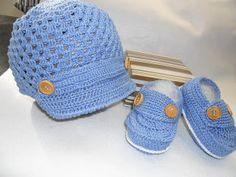 ab2d7e8541035 Sapatinhos Para Bebê - Life Baby  PAP conjunto Menino em Crochê ...