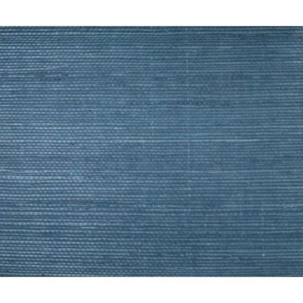 York Wallcoverings Sisal Grasscloth Wallpaper Dark Blue