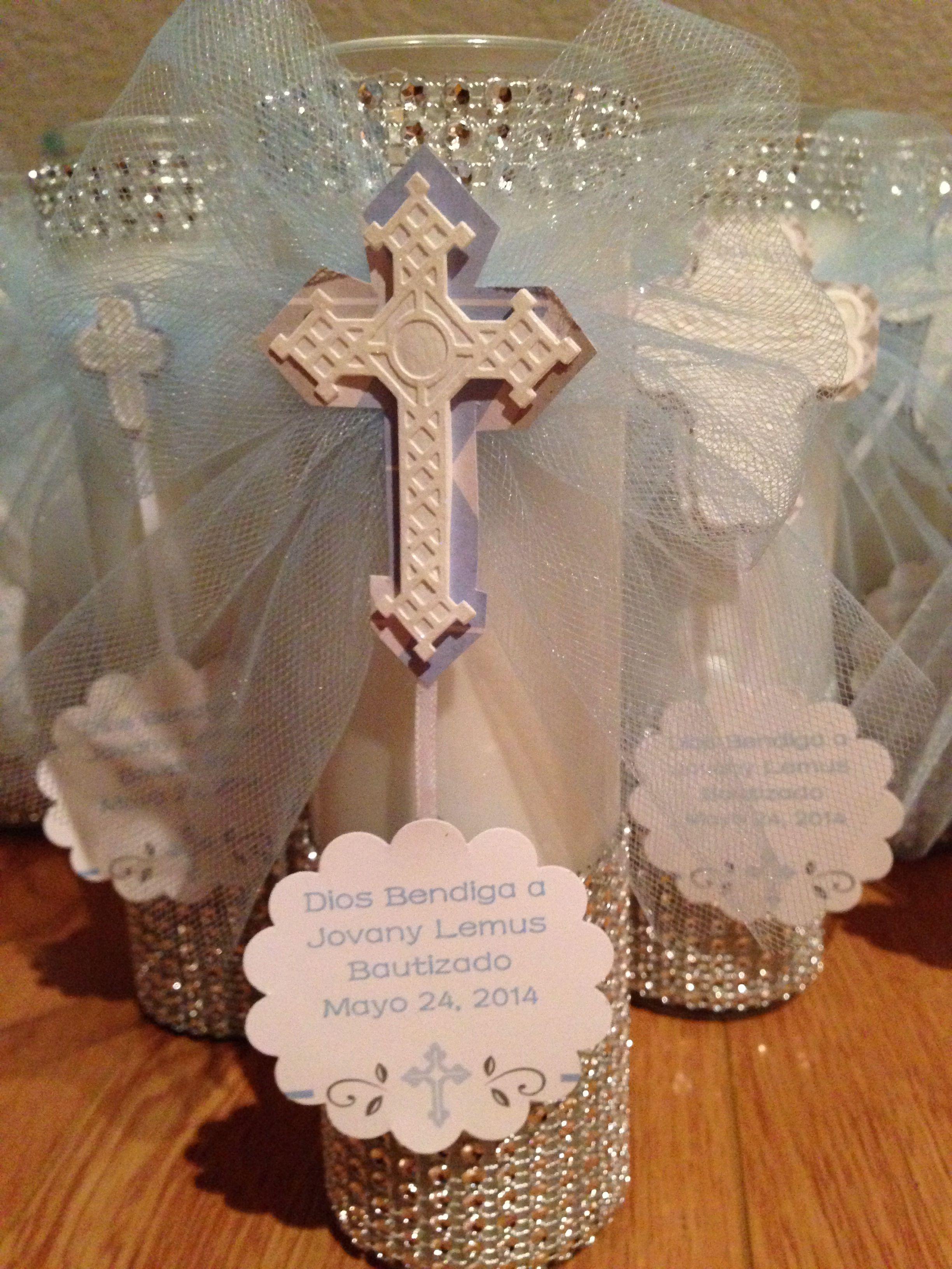 Baptism favors centerpiece decor jovanys bautizo