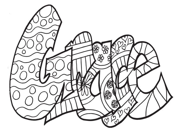 GRACE Free Printable Coloring Page by Stevie Doodles #