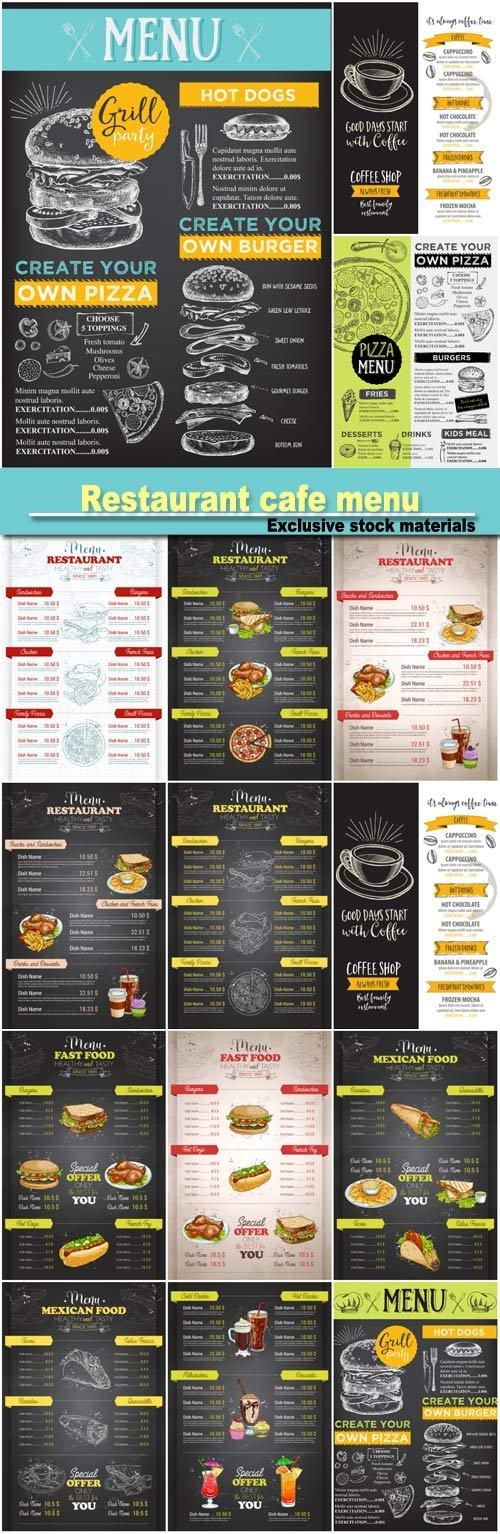 Restaurant Cafe Menu Template Design   Design    Cafe