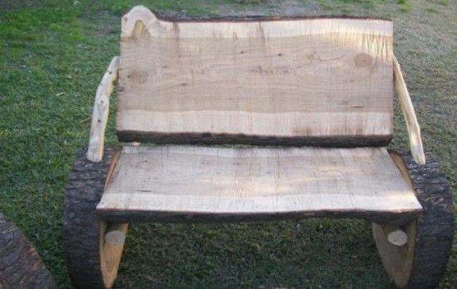 juego de muebles rusticos echos en tronco de pino | hogar ...
