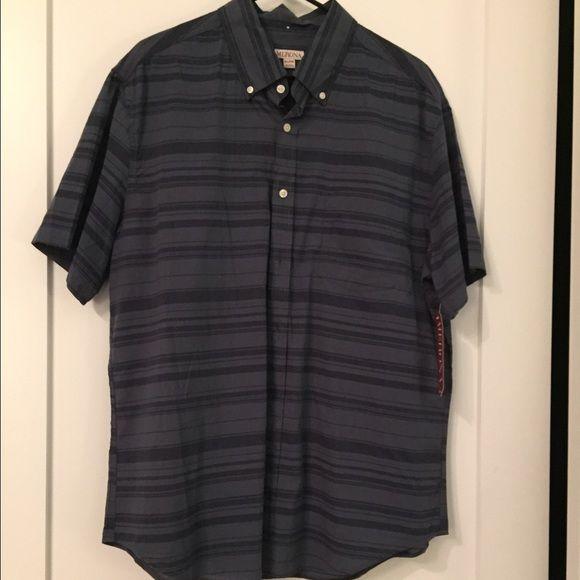 Men's Short Sleeve Button Down Shirt Men's Merona Casual Striped Button Down Shirt Merona Tops Button Down Shirts