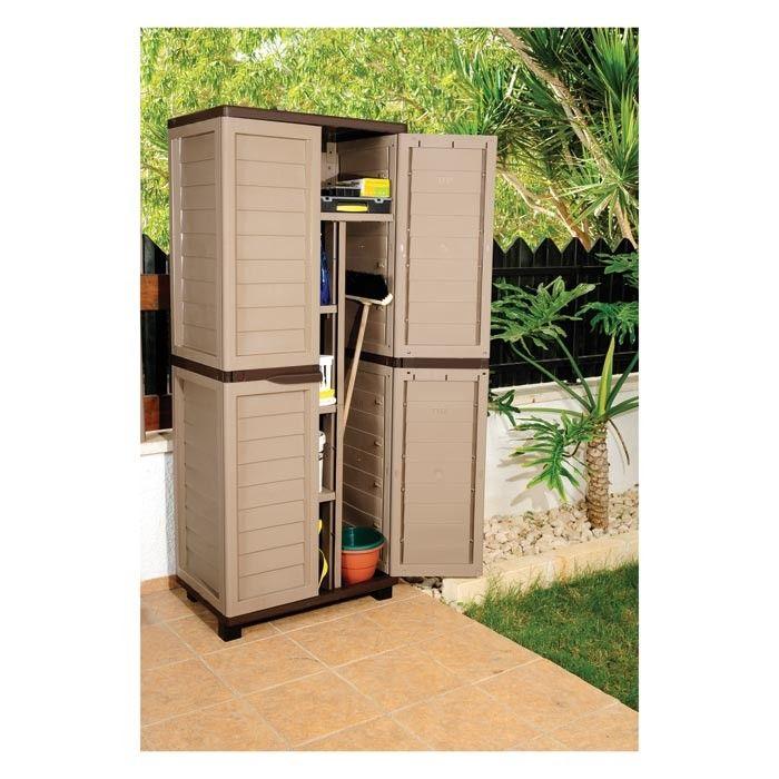 Starplast Garden Storage Cabinet With Divider Outdoor Storage Cabinet Garden Storage Cabinet Outdoor Furniture Storage