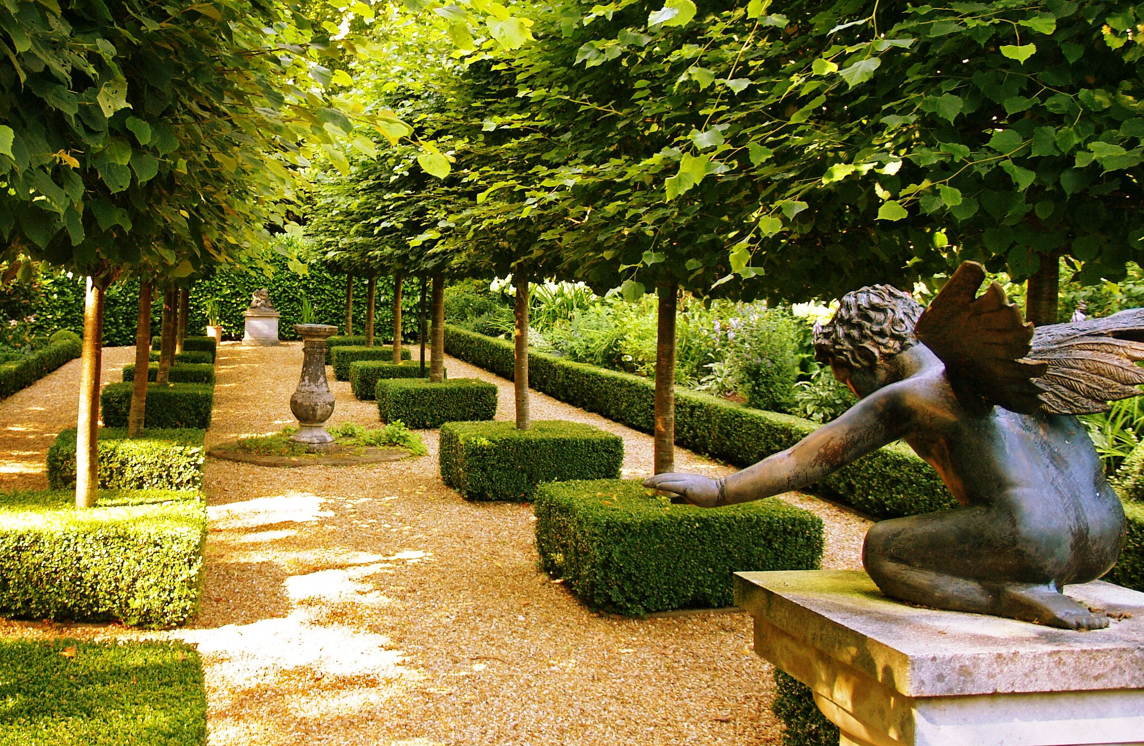 French garden with gravel and boxwoods gardening for French garden