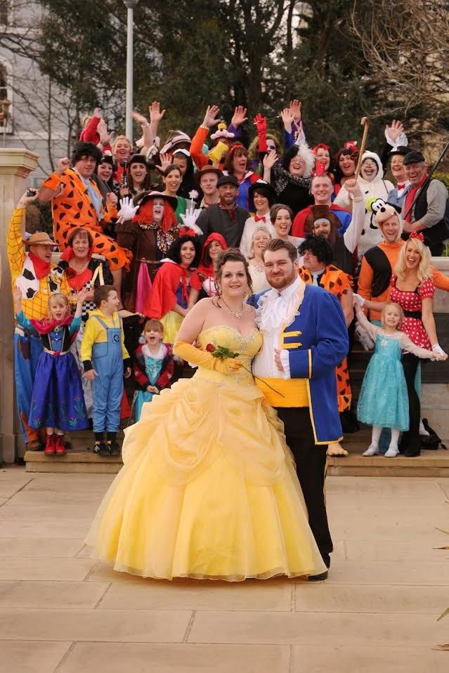 Toni And Eric S Beauty The Beast Costume Wedding This Fairy Tale Life