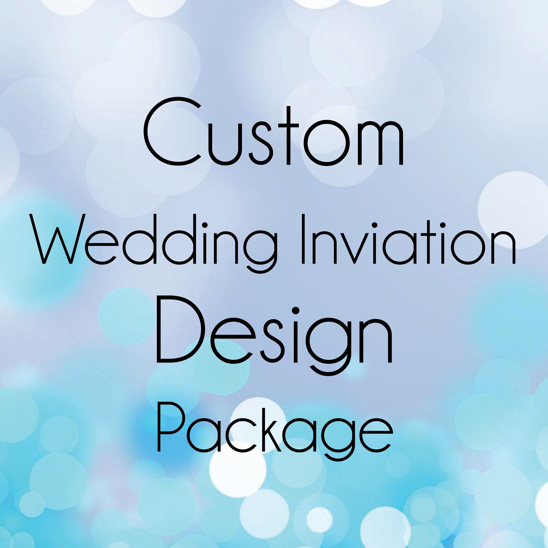 Custom Wedding Invitation Design Package Invitation Rvsp