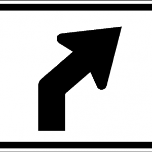 Advance Turn Double Arrow M5 2 Turn Ons Reflective Sign Retro Reflective