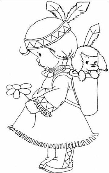 Indian Girl Precious Moments Coloring Pages Coloring Books