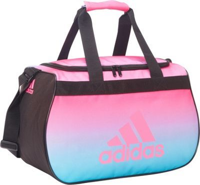 cbe1738691 adidas Diablo Small Duffel Limited Edition Colors Ombre Print Black Solar  Pink - via eBags.com!