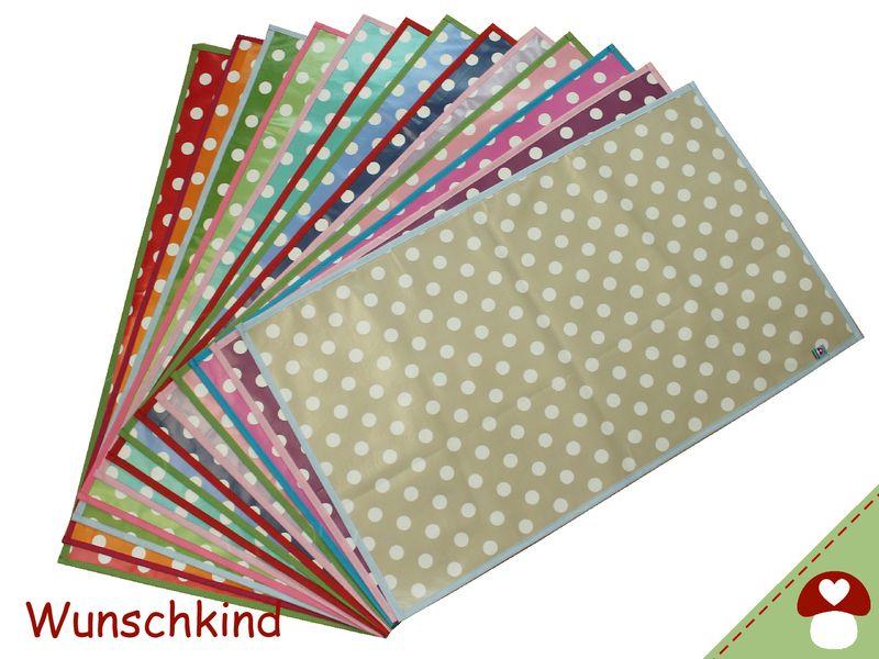 Wickelunterlage Wunschdesign aus Wachstuch von Wunschkind auf DaWanda.com