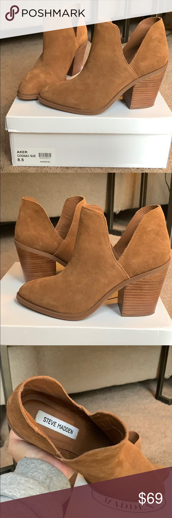 """f7cc8cfad77 Steve Madden """"Aker"""" Worn ONCE for photo shoot indoors. No scratches or  rips. Sole looks brand new. Steve Madden Shoes Ankle Boots   Booties"""