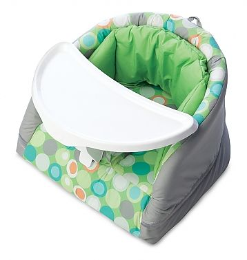 The Boppy Baby Chair grows with baby - use it from 3 months to one year and for mealtime or playtime!  http://www.boppy.com/shop/boppy-baby-chair/