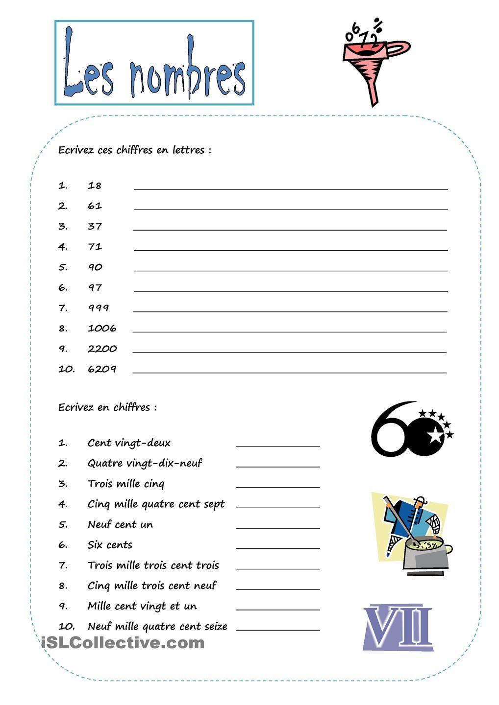 CHIFFRES | Exercices de vocabulaire, Chiffre et Nombre