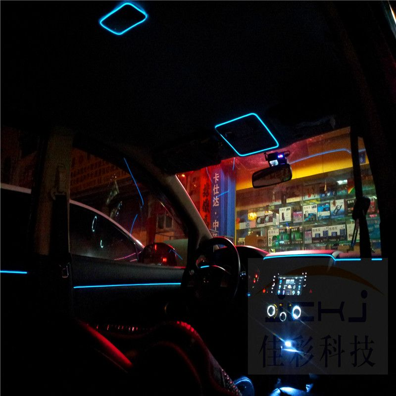 Diy Decoration 12v Auto Car Interior Led Flexible Neon Light El Wire Rope Tube Neon Light Line Party Weeding Decal 10 Colors 2 Car Decor Car Lights Wire Lights