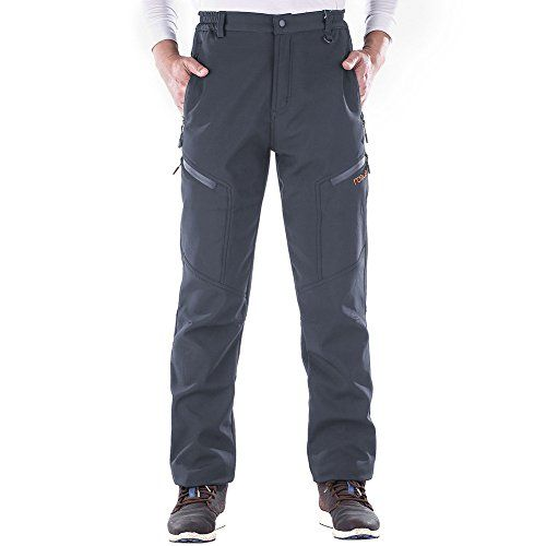 Nonwe Mens Snow Hiking Pants Warmth Windproof Water-resistant