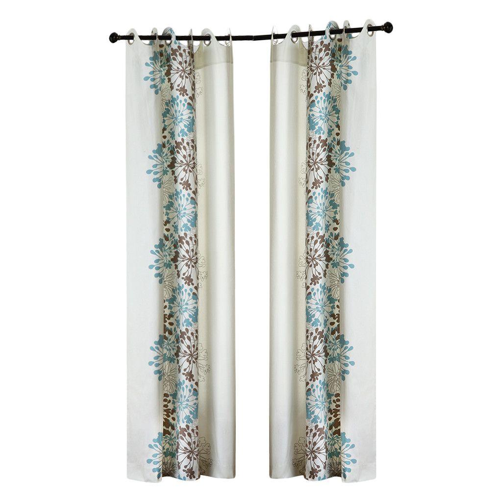 Madison park anaya cotton grommet curtain panel u reviews wayfair
