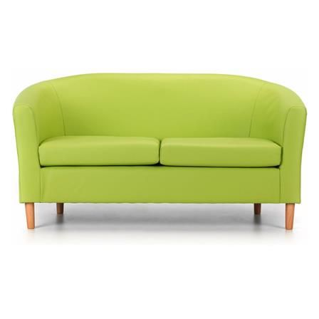 Enjoyable Nicole 2 Seater Faux Leather Tub Lime Furniture Ideas In Ibusinesslaw Wood Chair Design Ideas Ibusinesslaworg