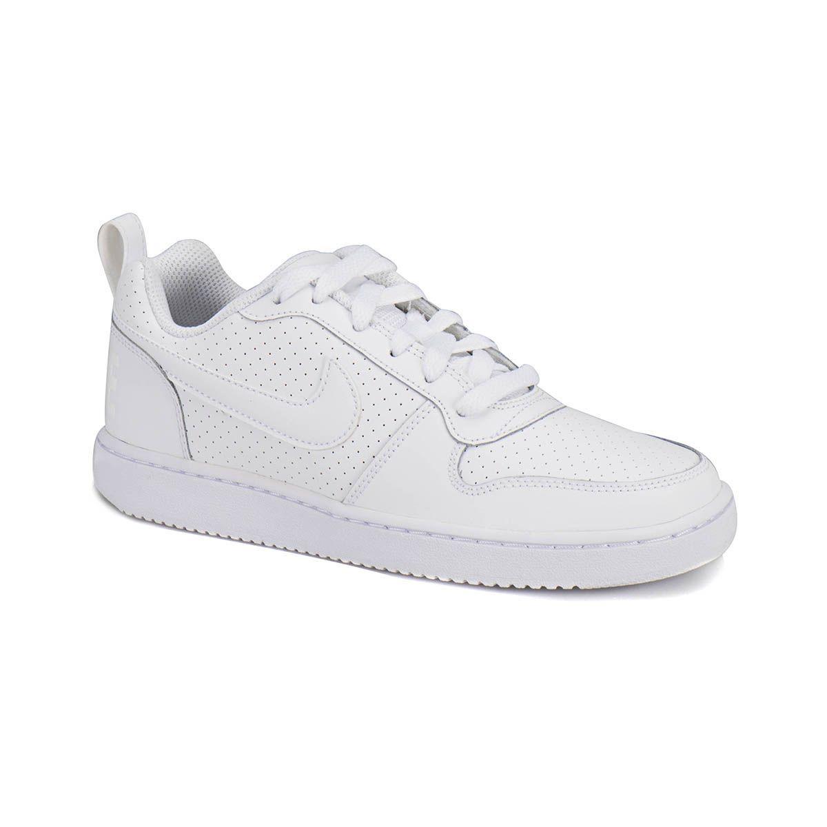 Flo Nike Wmns Court Borough Low Beyaz Kadin Sneaker Flo Ayakkabi Nike Sneaker Kadin