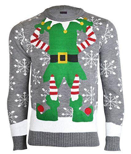 Elfen Pullover | Weihnachtspulli, Weihnachtlich stricken und
