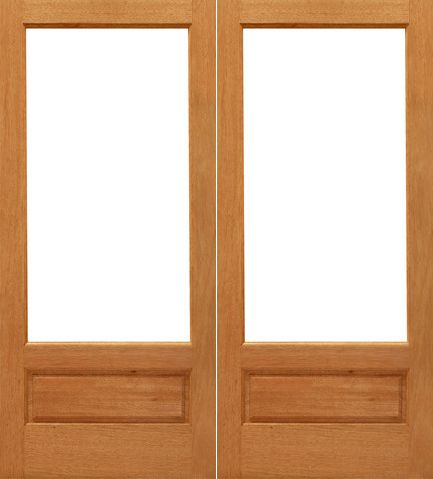 Interior Double Door 1 Lite P B Interior Brazilian Mahogany 1 Panel Ig Glass Double Door 33 By Aaw Double Doors Interior Mahogany Wood Wood Exterior Door