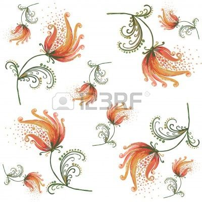 Stylish  floral background. Stock Vector - 8518492