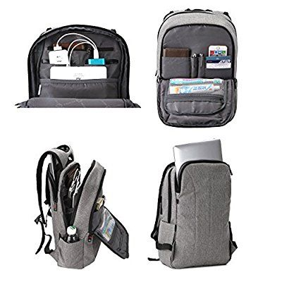 14529b6e7749 Amazon.com  Kopack Slim Business Laptop Backpacks Anti thief Tear   water  Resistant Travel Bag fits up to 15 15.6 Inch Macbook Computer Backpack in  Gray  ...