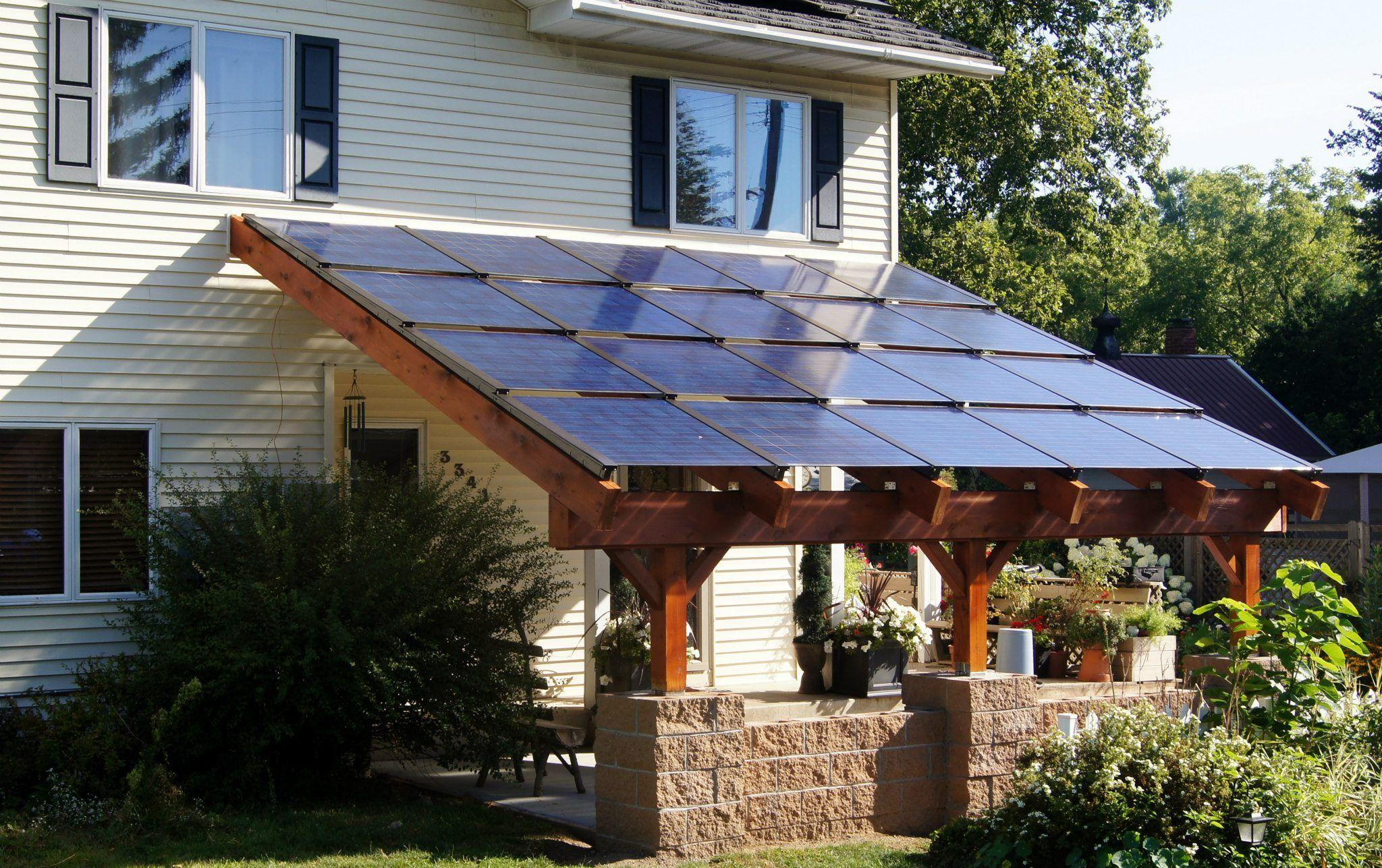 Blue Horizon Energy Solar carport 3.8kW of Silicon Energy