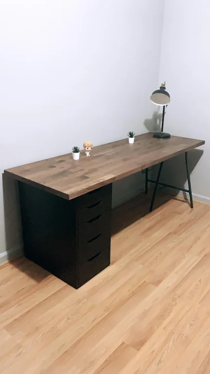 New Battle Station Featuring Karlby Alex And Lerberg Ikeahacks In 2020 Home Office Setup Home Office Decor Home Office