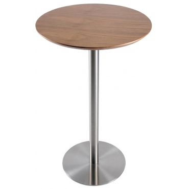 Zyler 25 Round Bar Table Brushed Stainless Steel Round Bar