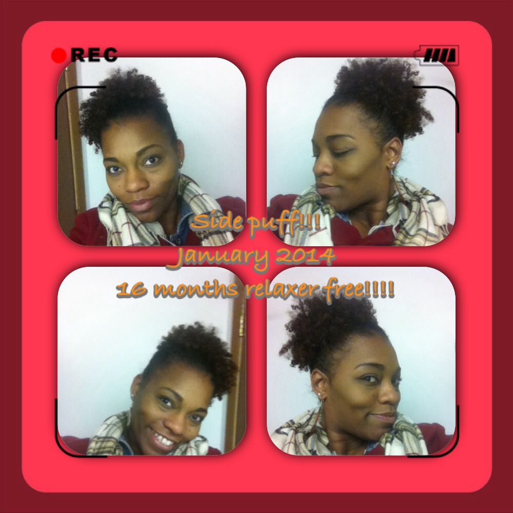 16 months:) I usually go back n forth getting my hair permed 1-2 xs a year but I'm on the no lye kick again lol.